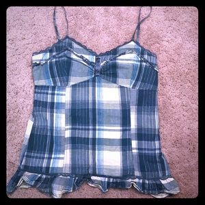 Plaid turquoise tank by American Rag